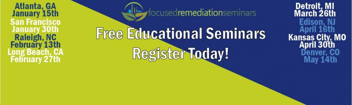 Free Focused Remediation Seminars start soon
