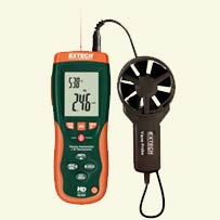 Extech Thermo-Anemometer w/IR Thermometer HD300