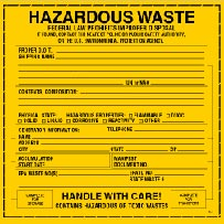Labels: Hazardous Waste
