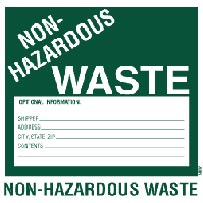 Labels: Non-Hazardous Waste